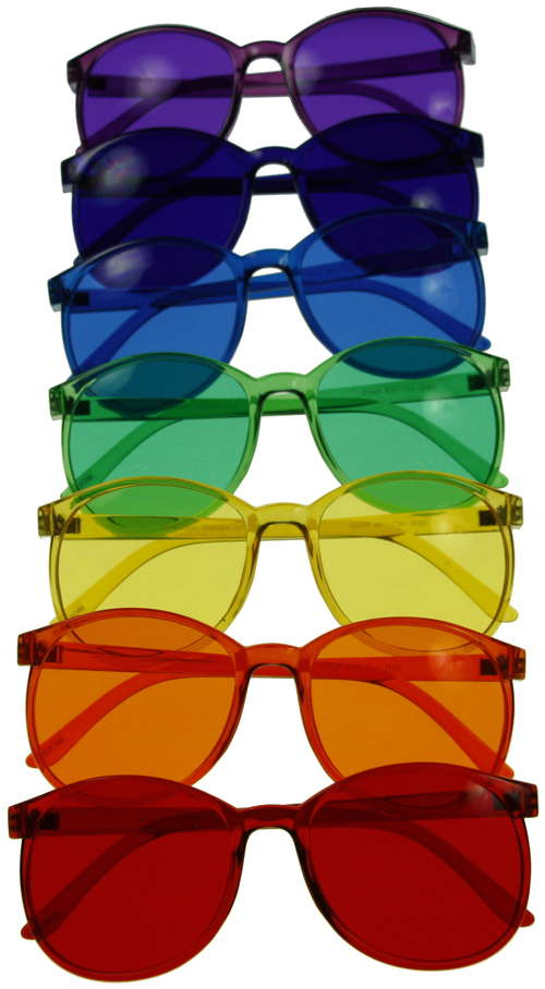 Blue And Yellow Sunglasses  color therapy glasses orange glasses for sleep color therapy